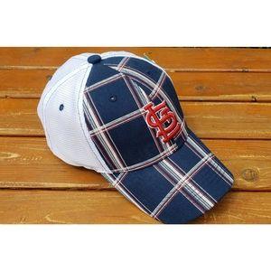 NWT St. Louis Cardinals Plaid Baseball Cap